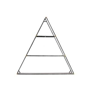 Urban Trends Collection Black Metal Triangular 3-tier Wall Shelf