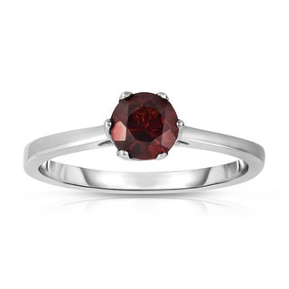 Noray Designs Sterling Silver 5/8ct TGW Garnet 6-prong Solitaire Ring