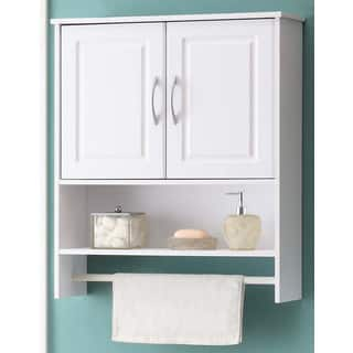 bathroom white water resistant laminate wall cabinet with towel rack - Bathroom Cabinet Furniture