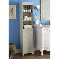 Rancho Vanilla Cappuccino Wood Bathroom Storage Tower Cabinet