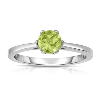 Noray Designs Sterling Silver 5/8ct TGW Peridot 6-prong Solitaire Ring