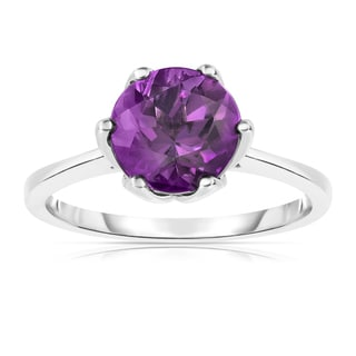 Noray Designs Sterling Silver 2ct TGW Amethyst 6-prong Solitaire Ring