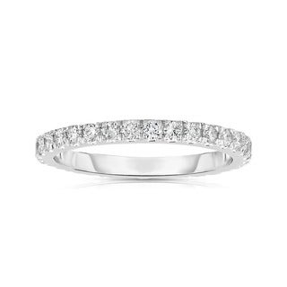 Noray Designs 14k White Gold 1/2ct TDW Diamond Eternity Wedding Band (G-H, SI1-SI2)