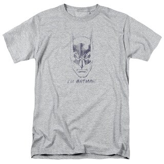 Batman/I'M Batman Short Sleeve Adult T-Shirt 18/1 in Heather