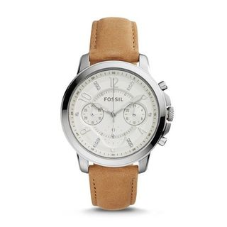 Fossil Women's ES4038 'Gwynn' Chronograph Crystal Brown Leather Watch