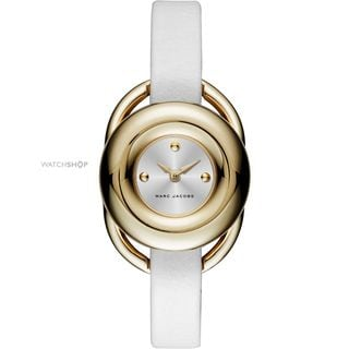 Marc Jacobs Women's MJ1446 'Jerrie' White Leather Watch