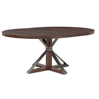 Cambridge Burnt Oak 54-inch Oval Dining Table