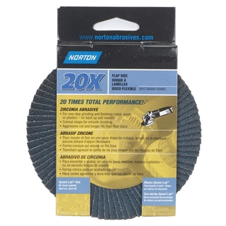 "Norton 03216 4"" 80 Grit High Performance Abrasive Flap Disc"