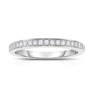 Noray Designs 14k White Gold 1/5ct TDW Diamond Wedding Band (G-H, SI1-SI2)