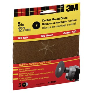 "3M 9150NA 5"" Fine Grit Center Mount Discs"
