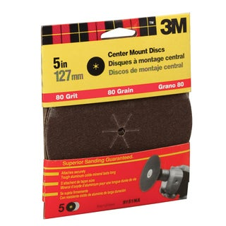 "3M 9151DC-NA 5"" Medium Grit Center Mount Discs"