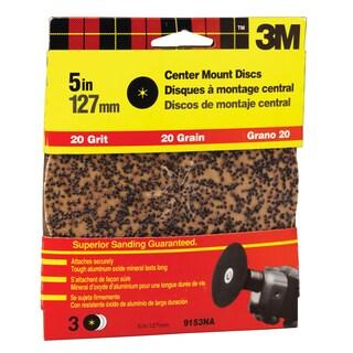 "3M 9153DC-NA 5"" Extra Coarse Center Mount Discs"