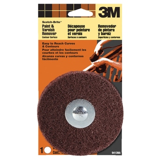 3M 9413NA Scotch-Brite Paint & Varnish Remover Disc Contour Surface
