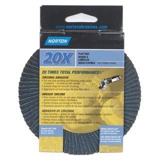 "Norton 03211 4-1/2"" 40 Grit Flap Disc"