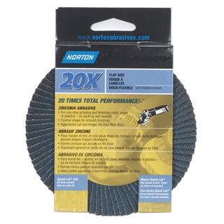 "Norton 03212 4-1/2"" 60 Grit Flap Disc"