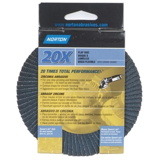 "Norton 03213 4-1/2"" 80 Grit High Performance Abrasive Flap Disc"