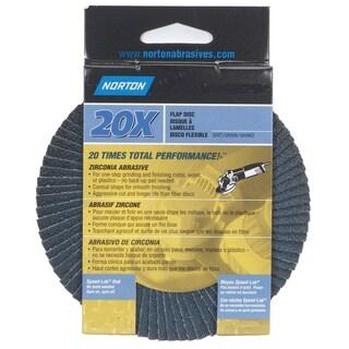"Norton 03213 4-1/2"" 80 Grit High Performance Abrasive Flap Disc"