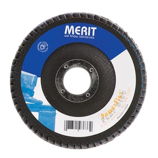 "Norton 19987 4-1/2"" 80 Grit Powerflex Flap Disc"