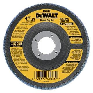 Dewalt DW8308 60 Grit Metal Working Abrasives Zirconia Flap Discs