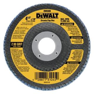 Dewalt DW8309 80 Grit Metal Working Abrasives Zirconia Flap Discs