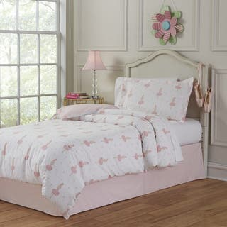 Lullaby Bedding Ballerina Cotton Printed 4-piece Comforter Set|https://ak1.ostkcdn.com/images/products/12427374/P19244017.jpg?impolicy=medium