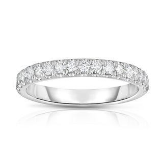 Noray Designs 14k White Gold 2/5ct TDW Shared-prong Diamond Wedding Band (G-H, SI1-SI2)