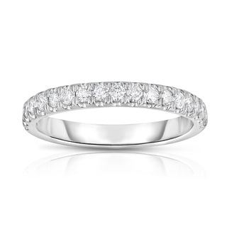 Noray Designs 14k White Gold 2/5ct TDW Shared-prong Diamond Wedding Band