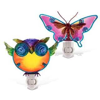 Puzzled Butterfly And Owl Night Light
