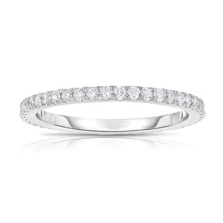 Noray Designs14k White Gold 2/5ct TDW Diamond Eternity Ring (G-H, SI1-SI2)