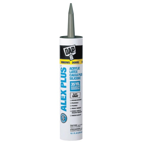 Dap 18118 11 Oz Slate Gray Alex Plus Acrylic Latex Caulk W/Silicone