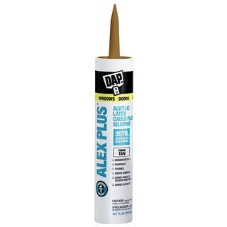 Dap 18122 11 Oz Cedar Tan Alex Plus Acrylic Latex Caulk With Silicone