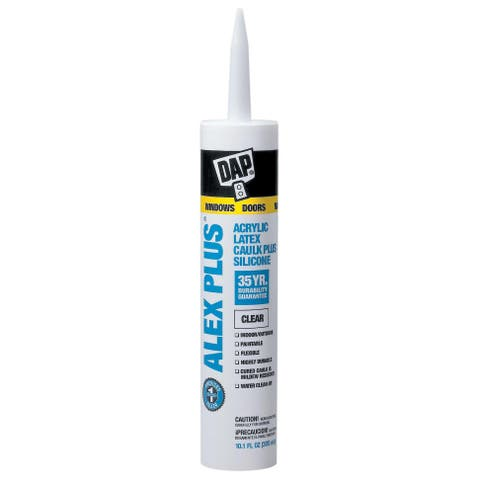 Dap 18152 11 Oz White Alex Plus Acrylic Latex Caulk With Silicone