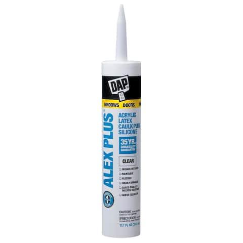Dap 18156 11 Oz Clear Alex Plus Acrylic Latex Caulk With Silicone