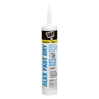 Dap 18425 10.1 Oz White Alex Fast Dry Acrylic Latex Caulk Plus Sil
