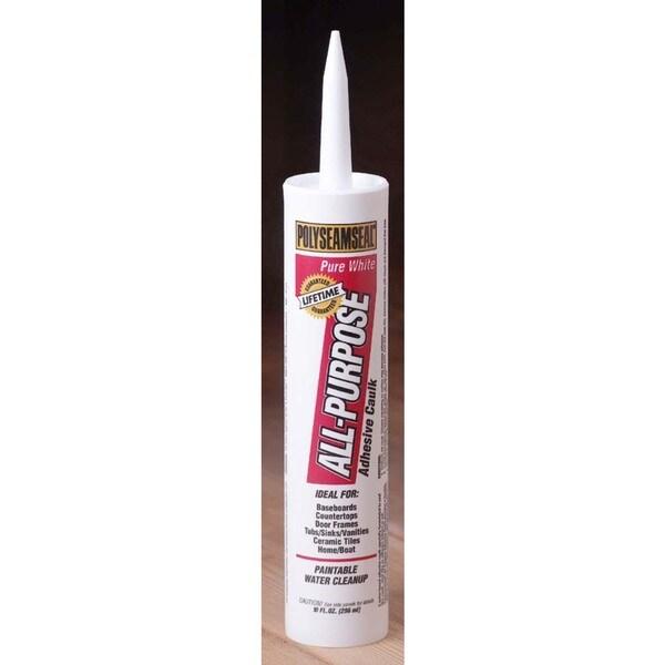 Shop Polyseamseal 1507600 10 Oz White Acrylic Caulk With