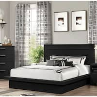 LYKE Home Moda Black Wood Platform Bed