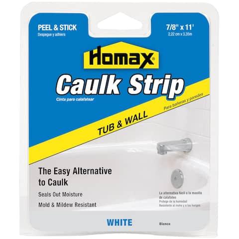 """Homax 34015 7/8"""" White Tub & Wall Caulk Strip"""