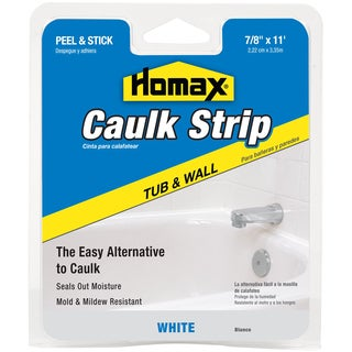 "Homax 34015 7/8"" White Tub & Wall Caulk Strip"
