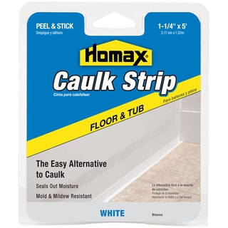 "Homax 34030 1-1/4"" White Tub & Floor Caulk Strip"