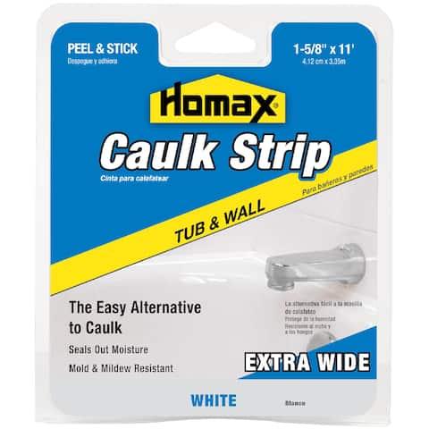 """Homax 34040 1-5/8"""" White Tub & Wall Caulk Strip"""