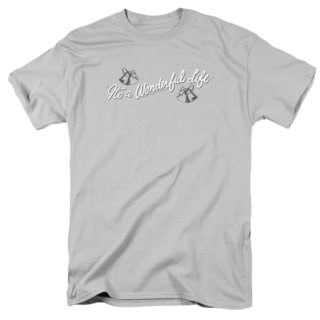 It's A Wonderful Life/Logo Short Sleeve Adult T-Shirt 18/1 in Silver