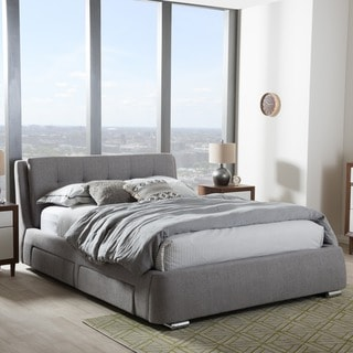 Contemporary Fabric Storage Platform Bed by Baxton Studio