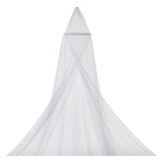 Delta Children White Mesh Decorative Canopy