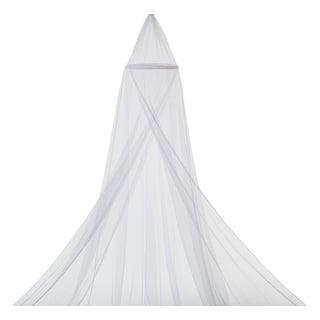Delta Children White Mesh Decorative Canopy