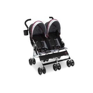Delta Children 'J is for Jeep' Brand Lunar Burgundy Double Stroller