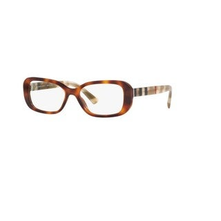 Burberry BE2228 3601 Light Havana Pillow Plastic Full rim Eyeglasses with 53mm Lens
