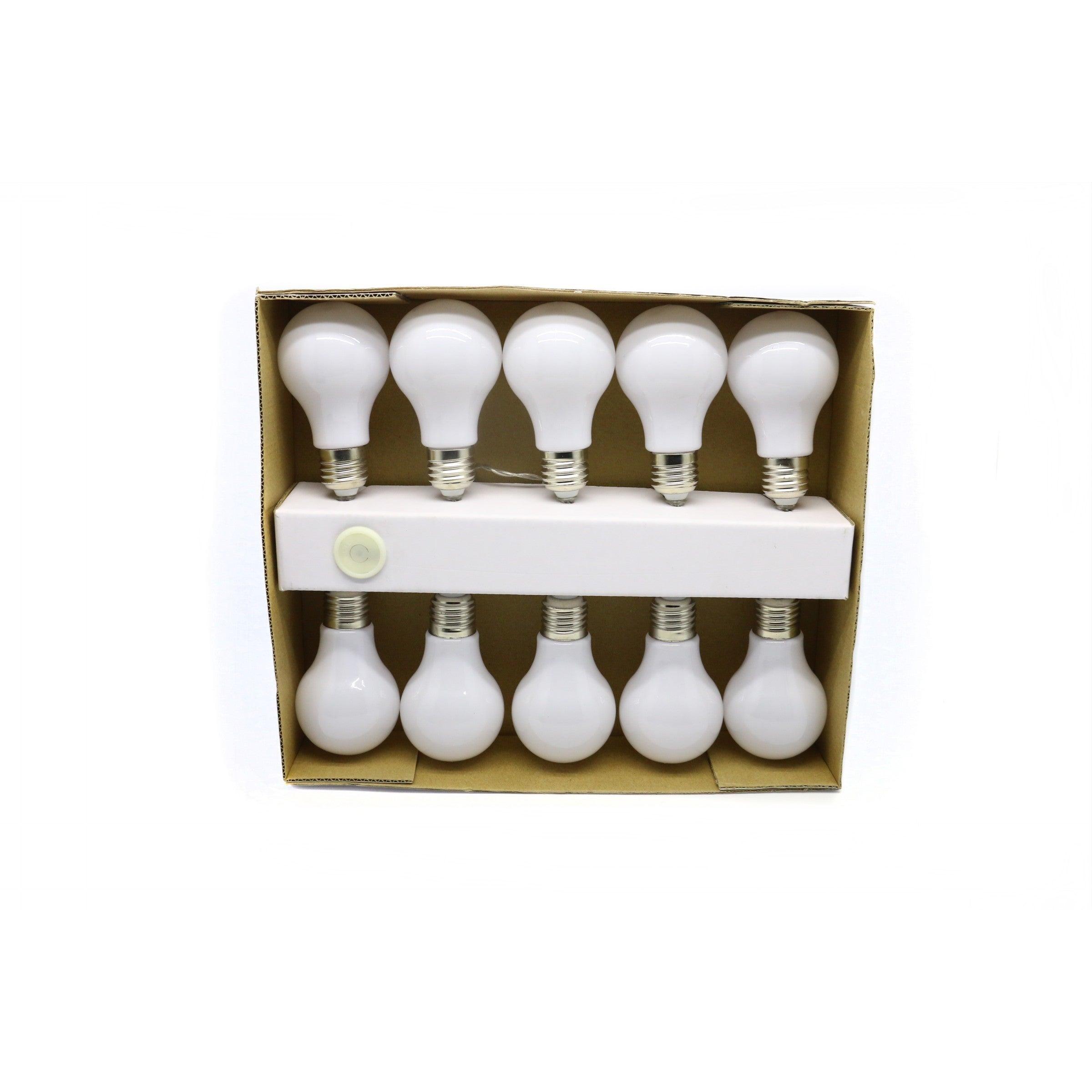 Alpine White 10-light String of Edison Bulbs (White) (Pla...