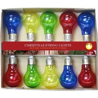 Edison Multicolored 10-LED Bulb String Lights