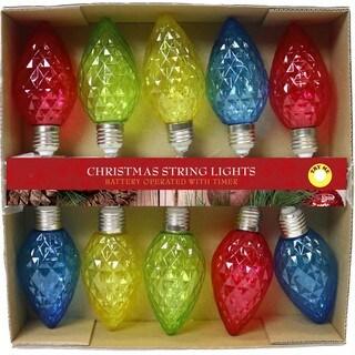 Decorative MultiColor 10-LED Light Bulb String Lights