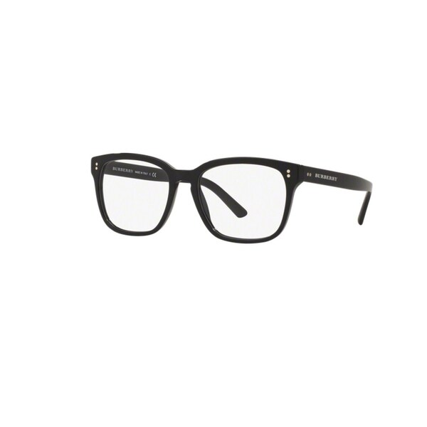b8434ef2245c Burberry BE2225 3001 Black Plastic Square Eyeglasses with 55mm Lens ...